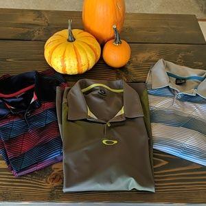 3 Men's Oakley Polo shirts